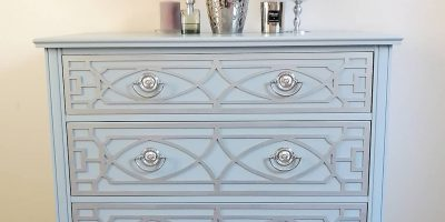 Before & After -Chest of Drawers in a glamour style