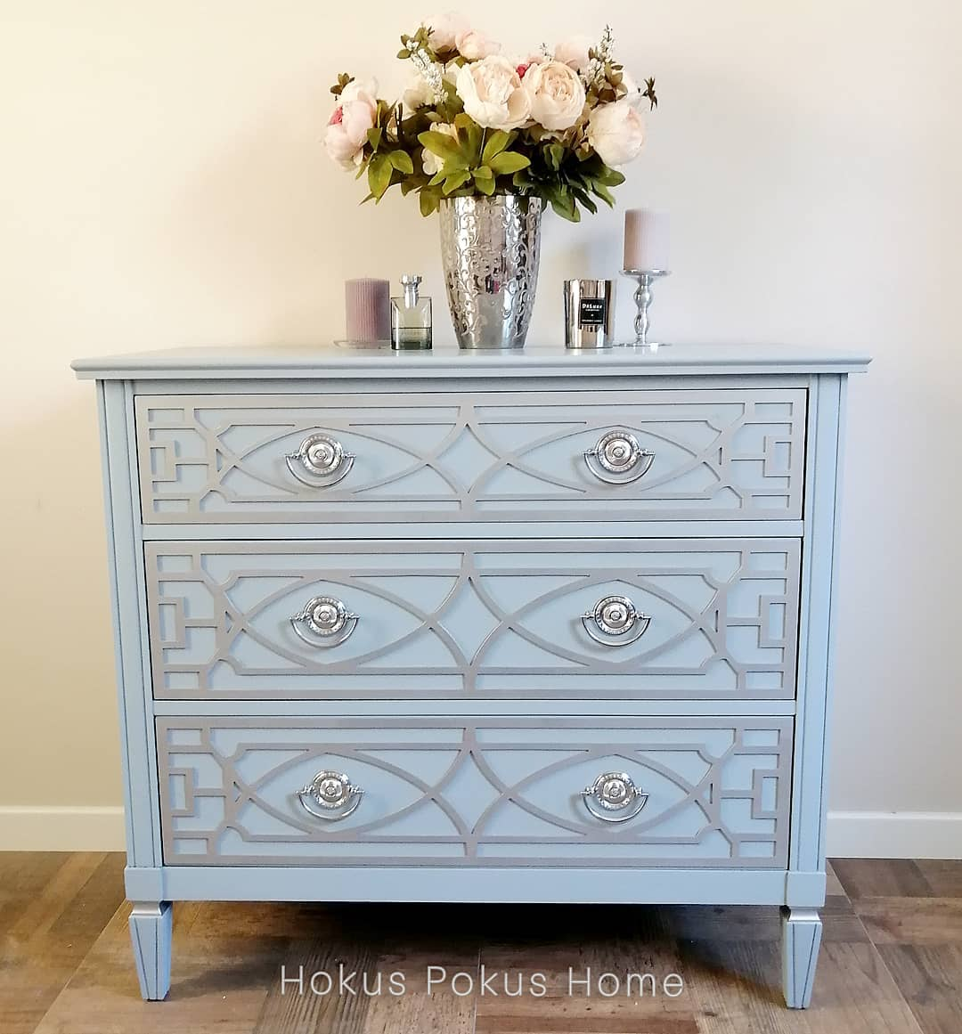 chest of drawers in a glamour style
