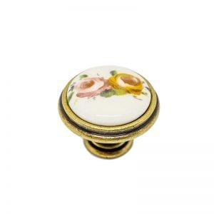 gold ceramic retro knob