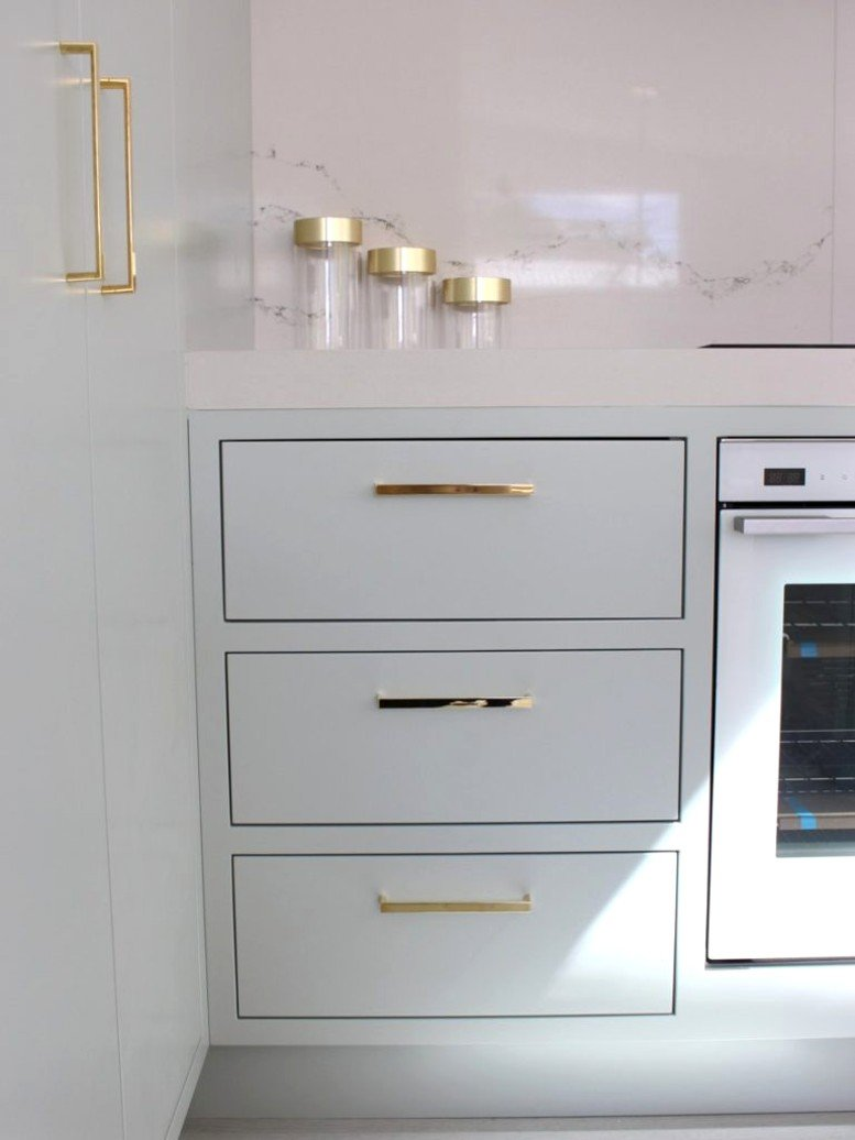 gold kitchen cupboard handles and accessories