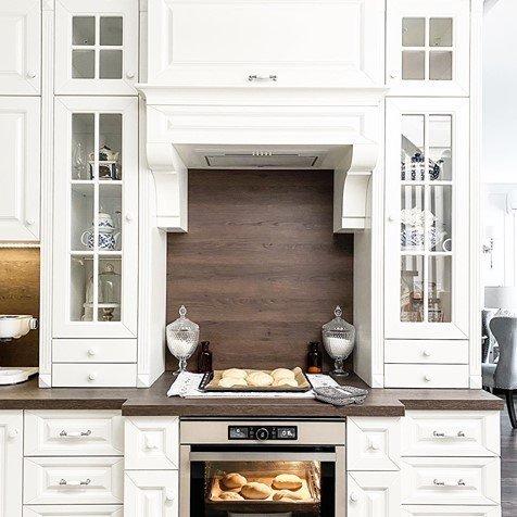 white kitchen ceramic handles