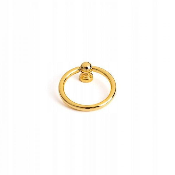 40 mm polished gold ring pull