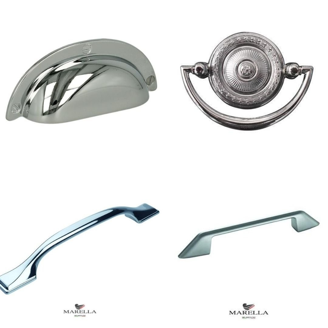 chrome kitchen handles for cabinets and drawers