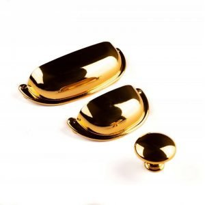 kitchen cup handles gold