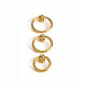 shiny gold ring pulls