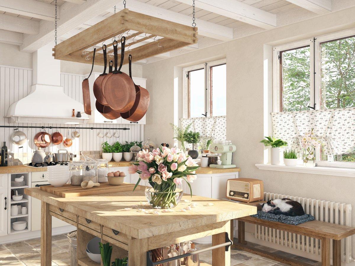 retro kitchen in a cottage