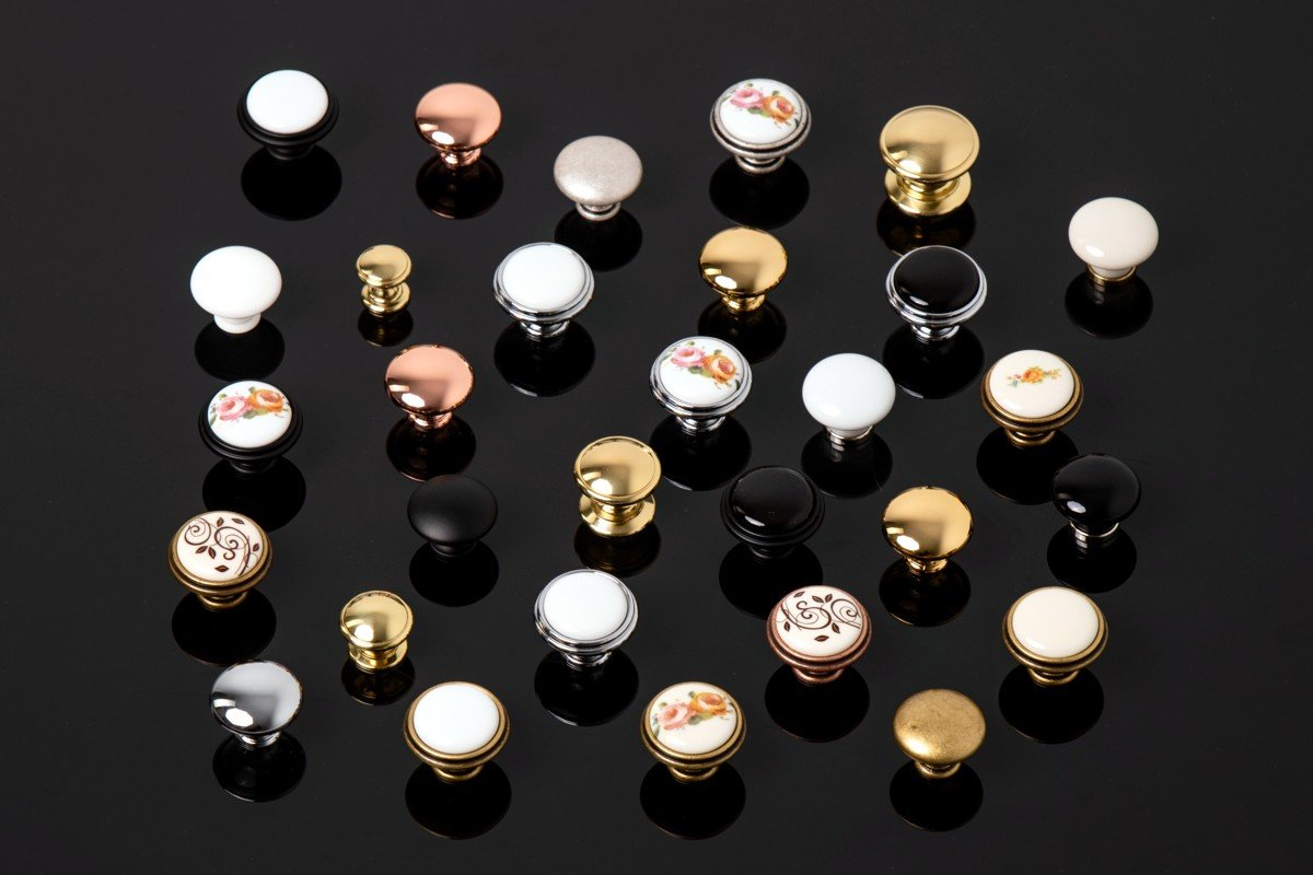 metal furniture knobs