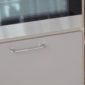 polished chrome kitchen door handles