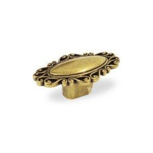 vintage drawer kitchen knob in old gold finish