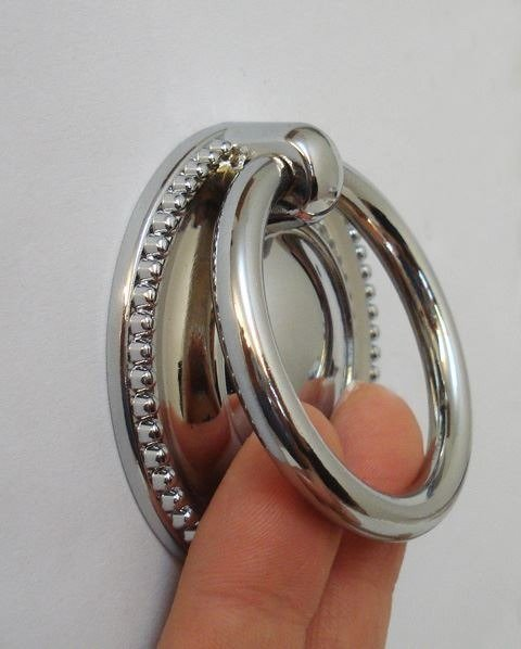 chrome ring pull for chairs or kitchen