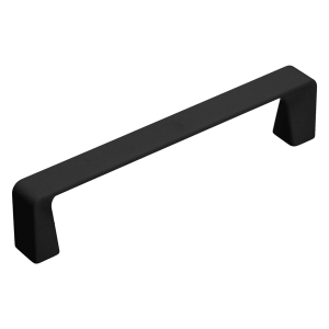 black mat kitchen door handle in 128 size