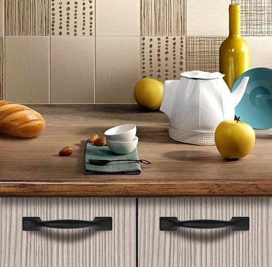 kitchen door handles black size 160 mm
