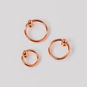 rose gold cabinet ring pulls