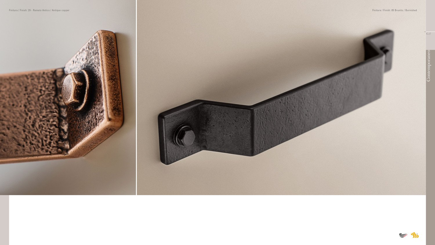 industrial style handles for loft interiors