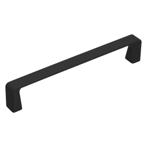 mat black long drawer handle for kitchen