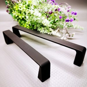 modern mat black kitchen cabinet handles