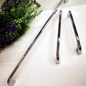 polished chrome kitchen bar handles