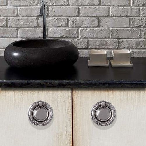 chrome ring pulls for kitchen cupboards