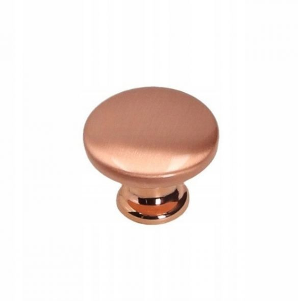 brushed copper knob 30 mm
