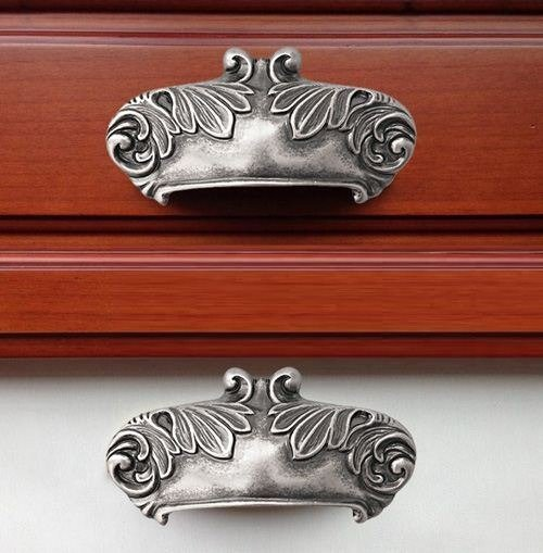 antigue cup handles old steel finish