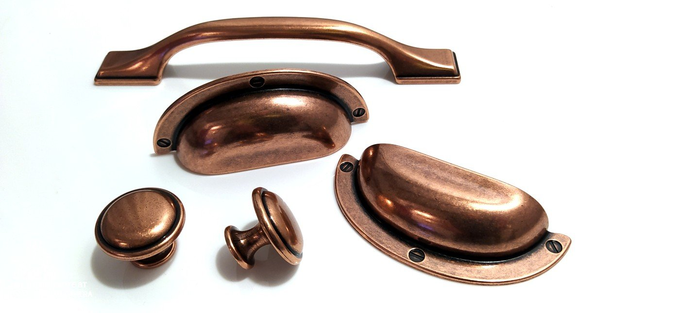 copper kitchen handles and knobs Italy