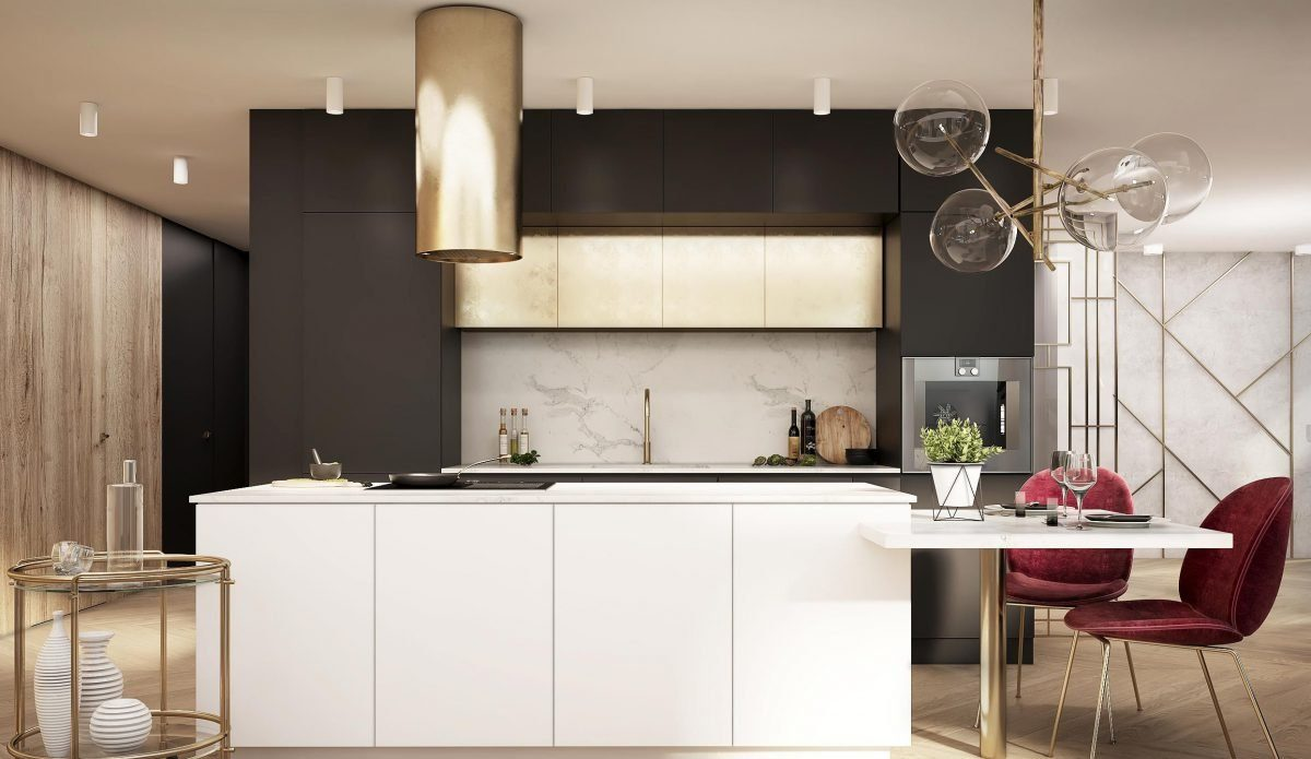 gold kitchen fronts