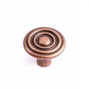 rustic copper knob 33 mm size