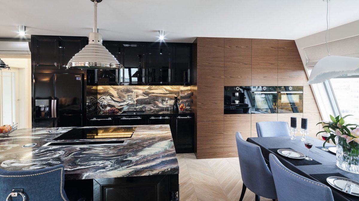 wood and stone in trendy kitchen of 2021