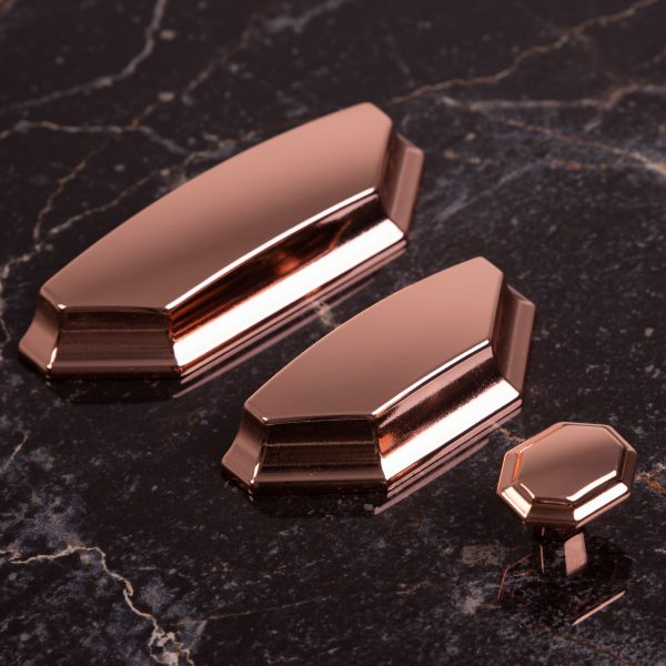 cup pull handles copper