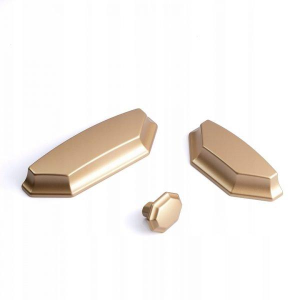 mat gold cup pull handles