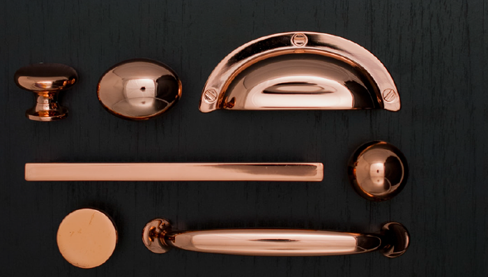 rose gold (copper) handles for kitchen cupboards