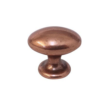 old copper oval knob in size 40 mm