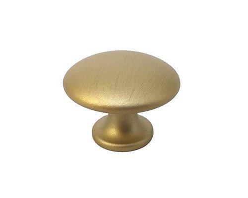 brushed gold cabinet knob 30 mm