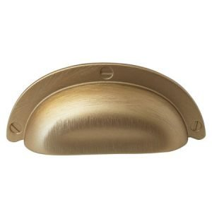 brushed gold cup handle 95 mm